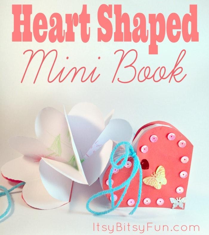 Mini Heart Shaped Book Note