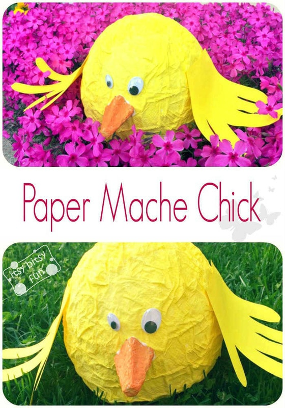Easter Paper Mache Chick