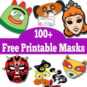 Over 100 Free Printable Masks for Kids