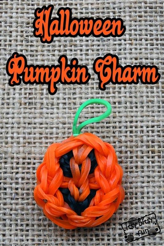 Halloween Pumpkin Rainbow Loom