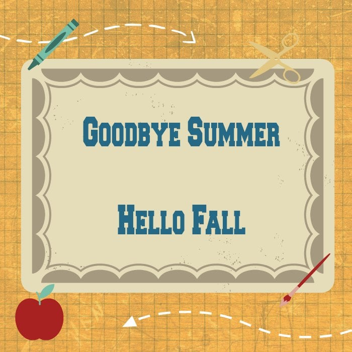 New Printables on Site: Farewell summer!