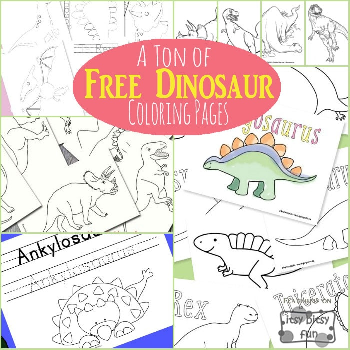 A to of free dinosaur coloring pages for kids