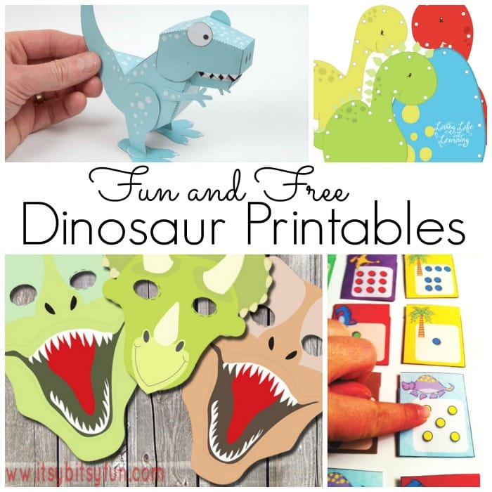 A to of free dinosaur masks, games and more for kids
