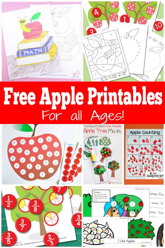 Free apple themed printables