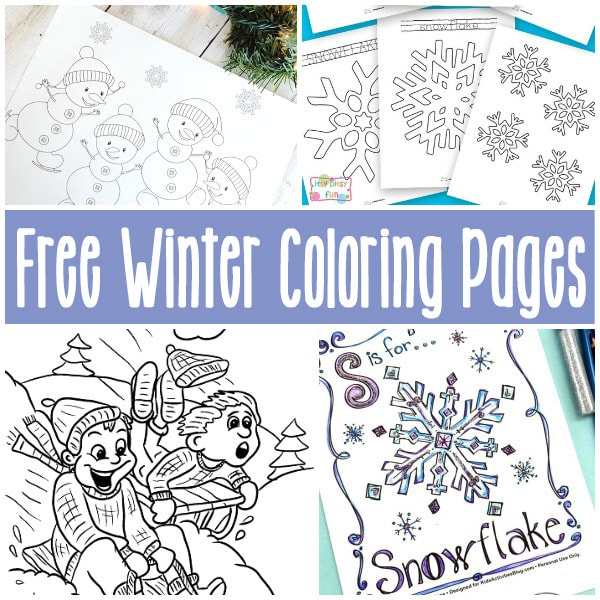 Printable Coloring Winter Pages : Free printable winter coloring pages itsy bitsy fun