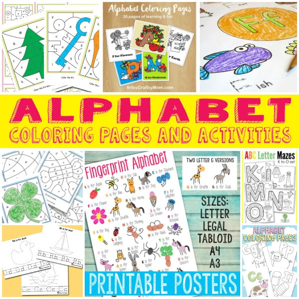 Free Alphabet Coloring Pages and Activities