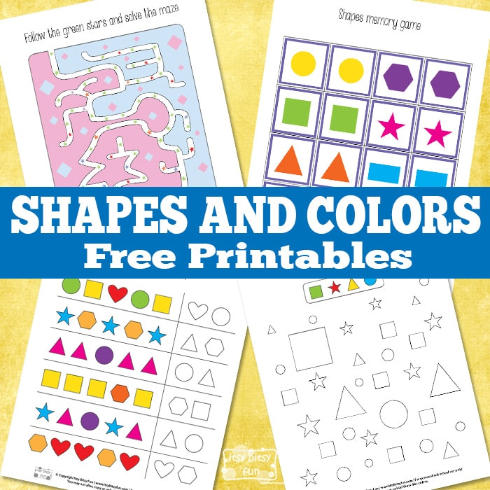 Shapes and colors free printable