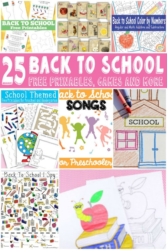 Back to School Learning Printables