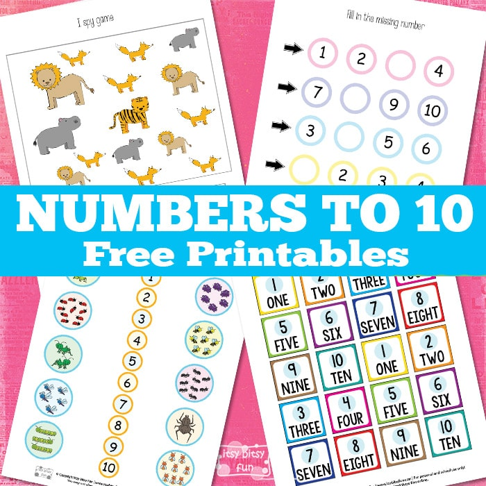 Number to 10 worksheets