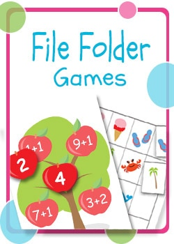 Free printable coloring file folder games
