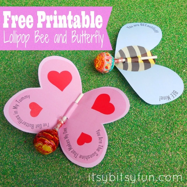 Sucker for Valentine's Day: Butterfly and Bee Lolipop