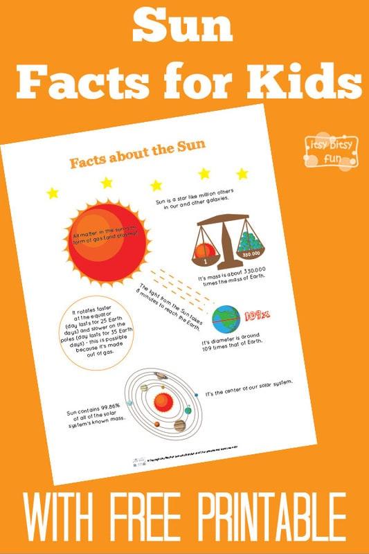 Fun Sun Facts for Kids - Itsy Bitsy Fun