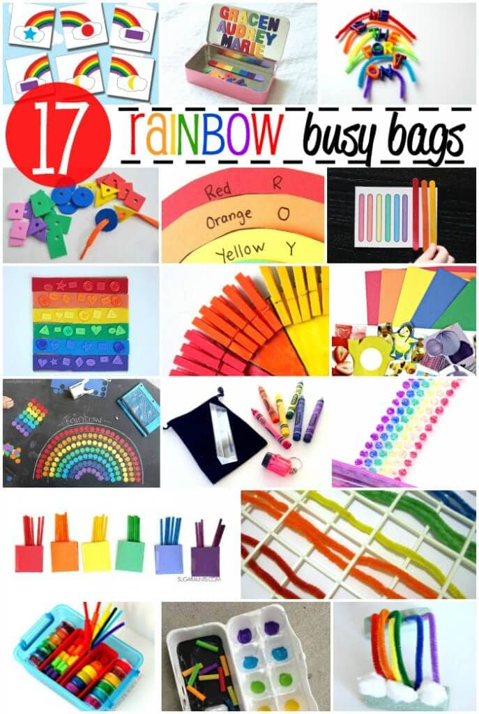 17 Awesome Rainbow Busy Bags