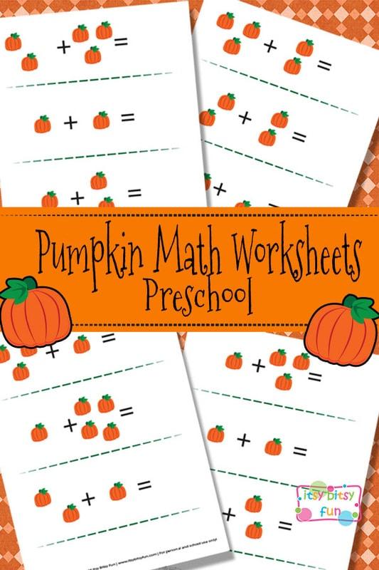 Pumpkin Math Worksheets for Kids
