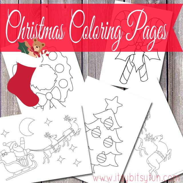 Christmas Coloring Pages (free) - Santa, Rudolph, Wreaths and more!