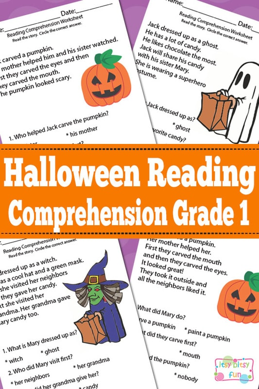 Halloween Reading Comprehension Worksheets for 1st Grade Itsy – Comprehension Worksheets for Grade 1