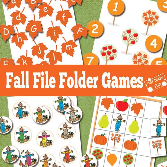 Fall File Folder Games