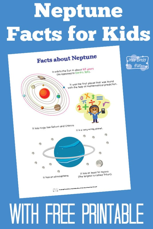 Fun Neptune Facts Kids Itsy Bitsy