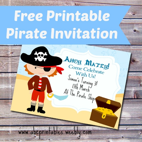 Free Printable Pirate Birthday Party Invitation Itsy Bitsy Fun – Free Pirate Party Invitations