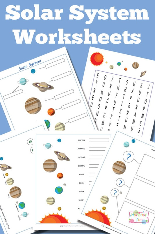 Solar System Worksheets for Kids Itsy Bitsy Fun – Free Solar System Worksheets