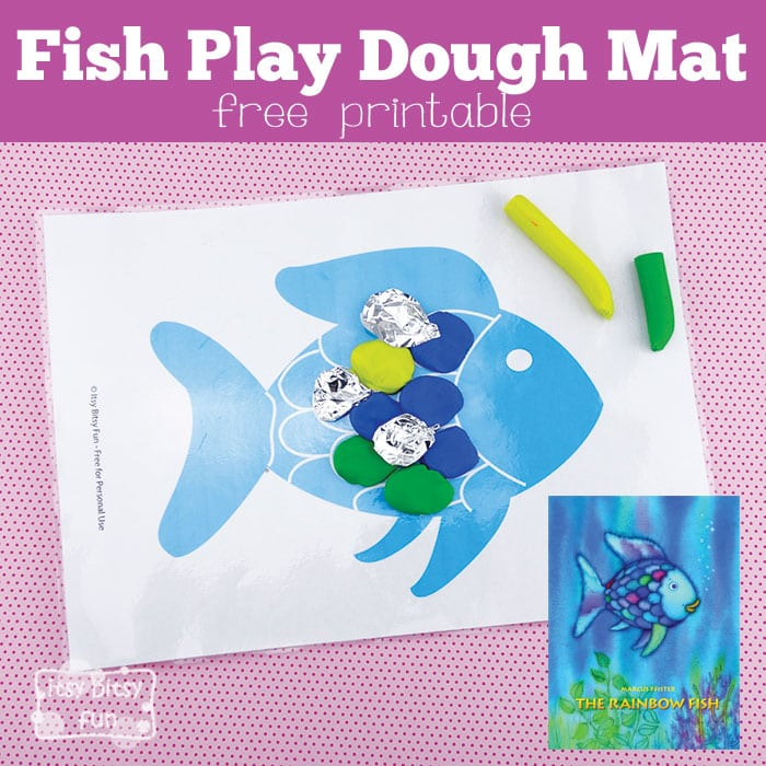 Fish playdough mat perfect for the rainbow fish itsy for How do you play go fish