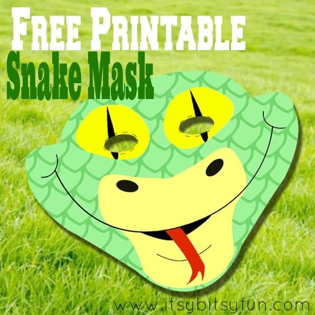 Free Printable Snake Mask Template