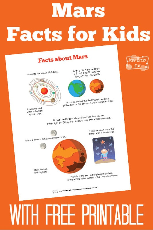 Fun Mars Facts for Kids - Itsy Bitsy Fun