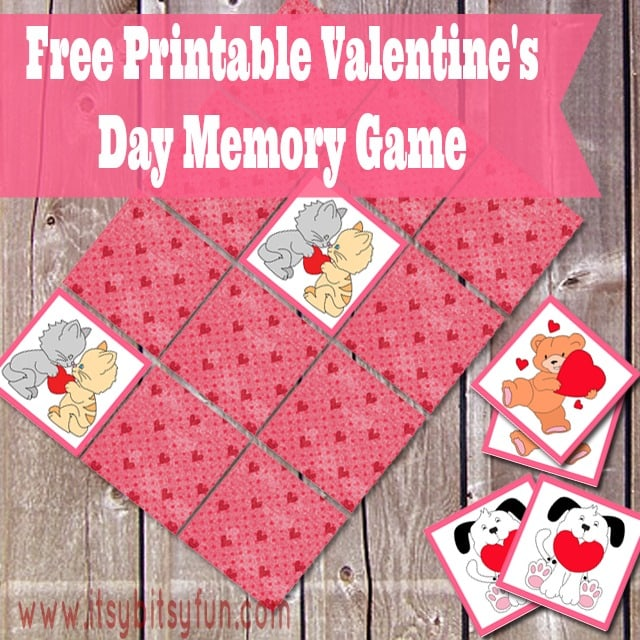 Printable Valentine's Day Memory Game