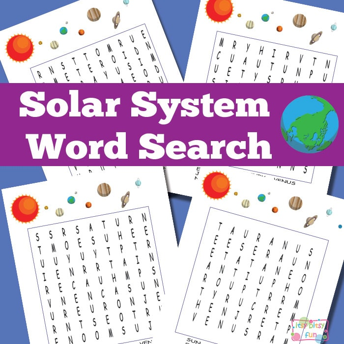 Solar System Word Search Puzzles