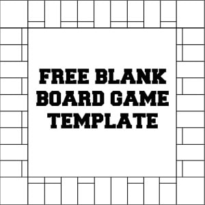 Blank Monopoly Template