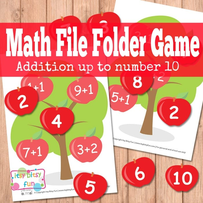 Math File Folder Game