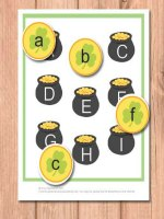 Pot of Gold Alphabet File Folder Game