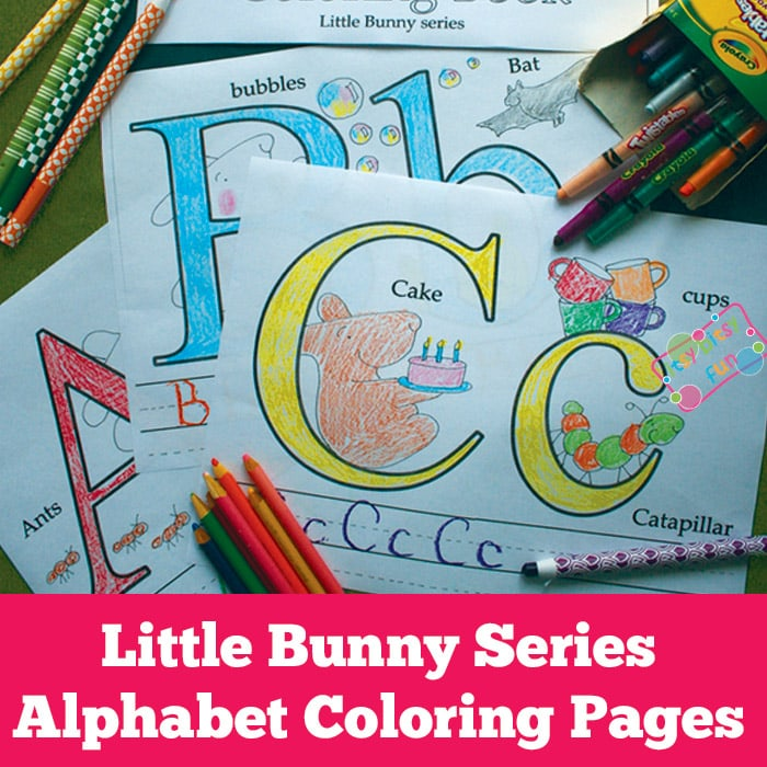 Little Bunny: Alphabet Coloring Pages