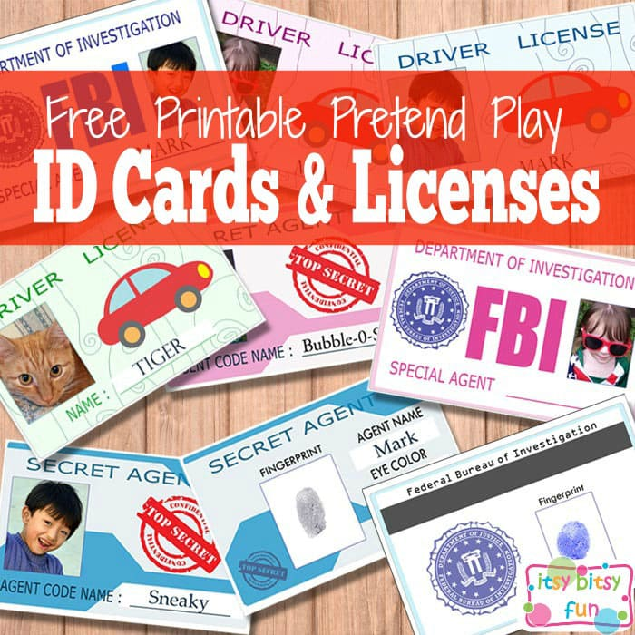 Free Printable Licenses and ID Cards For Kids - Itsy Bitsy Fun