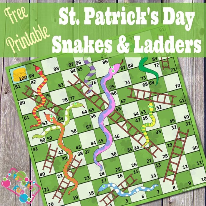 St. Patrick's Day Snakes & Ladders (free) - Itsy Bitsy Fun