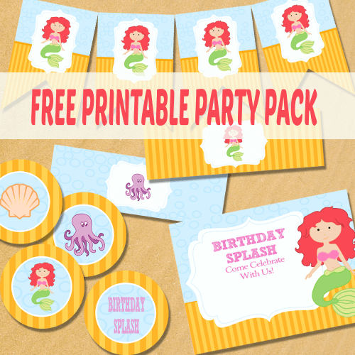 Mermaid Party Supplies Free Printable