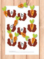 Alphabet fun with carrots