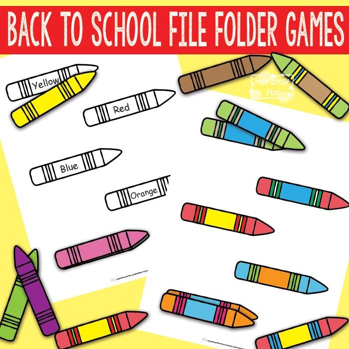 Back to School File Folder games
