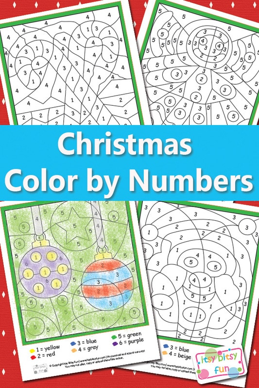 Christmas Color by Numbers