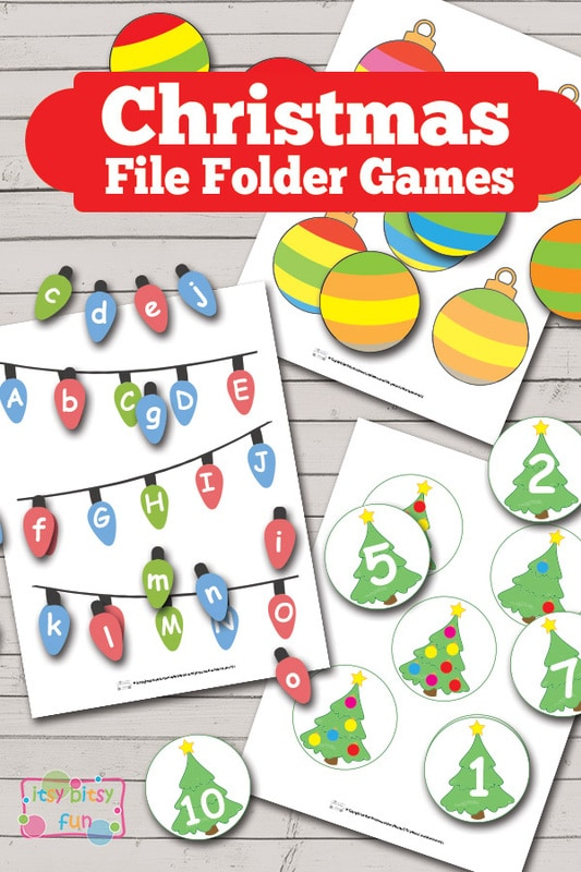 Christmas File Folder Game