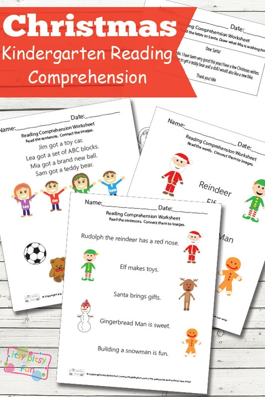 Christmas Kindergarten Reading Comprehension