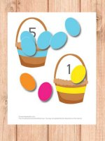Color and counting with egg baskets