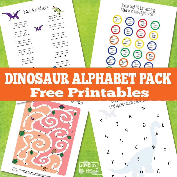 Dinosaur Alphabet Worksheets