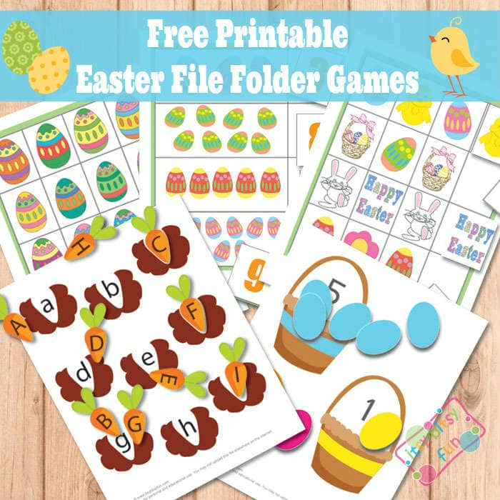 Easter File Folder Games Free Printable for Kids