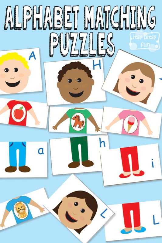 Free Printable Alphabet Matching Puzzles