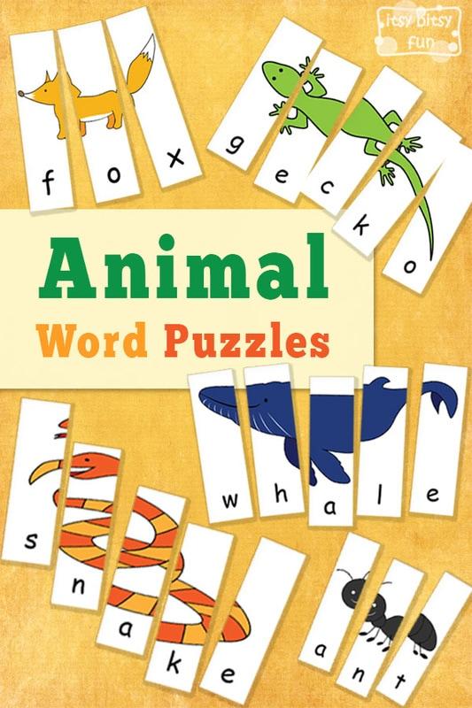Free Printable Animal Word Puzzles