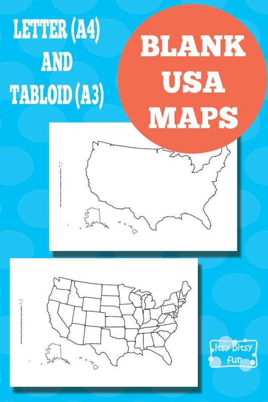 Free Printable Blank Map of Usa