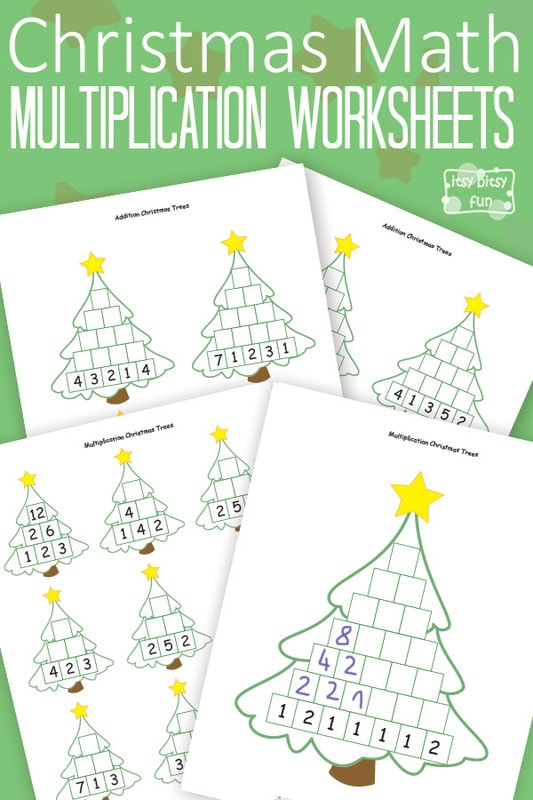 Free Printable Christmas Math Worksheets Multiplication