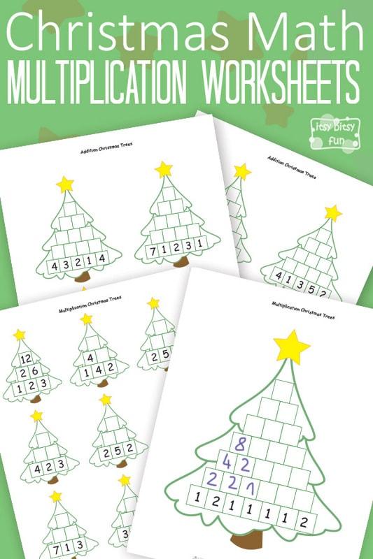 Christmas Math Worksheets Multiplication Tree Itsy Bitsy Fun – Multiplication Christmas Worksheets