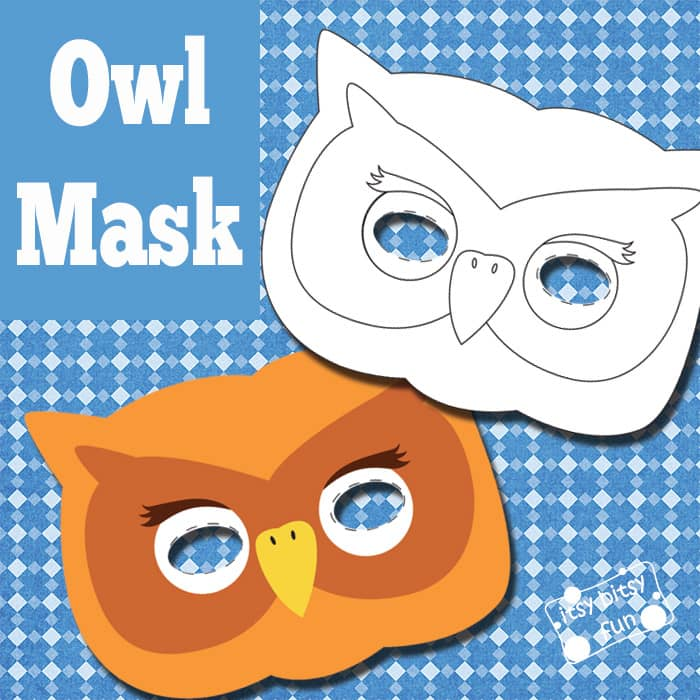 Free Printable Owl Mask & Template to Color